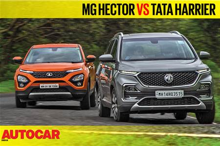 MG Hector vs Tata Harrier video comparison