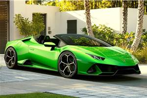 Lamborghini Huracan Evo Spyder India launch on October 10