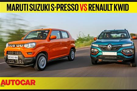 Maruti Suzuki S-Presso vs Renault Kwid comparison video