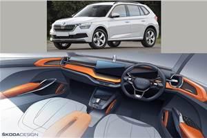India-bound Skoda Vision IN SUV interior sketch revealed