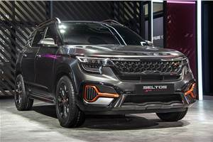 Rugged Kia Seltos breaks cover as X-Line concept at Auto Expo 2020