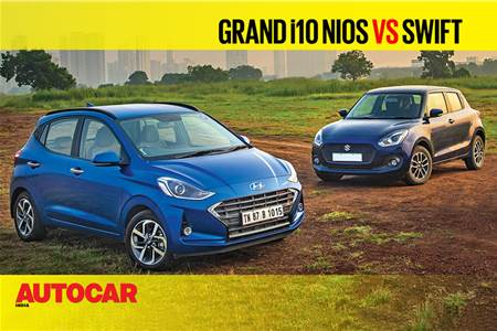 Hyundai Grand i10 Nios vs Maruti Suzuki Swift petrol comparison video