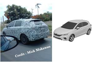 Honda City hatchback spied for the first time