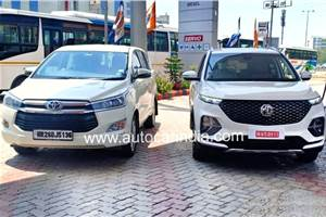 MG Hector Plus to be pitched as Toyota Innova Crysta rival