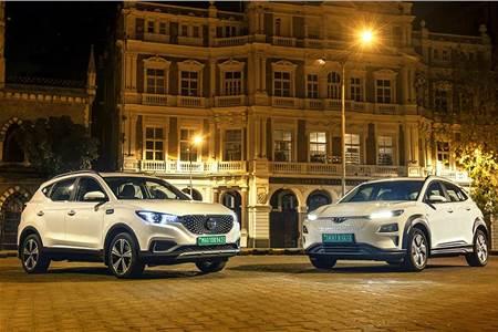 Hyundai Kona Electric vs MG ZS EV comparison