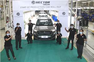 MG Hector Plus production begins ahead of July launch
