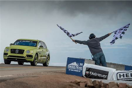 Bentley Bentayga Pikes Peak image gallery