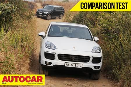 New Porsche Cayenne vs Range Rover Sport video comparison