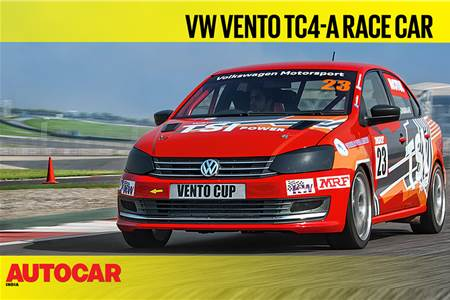 Volkswagen Vento TC4-A race car video