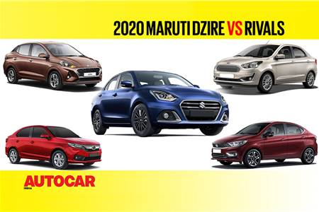 Maruti Suzuki Dzire facelift vs Rivals - Price and Spec Comparison video