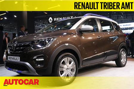 Renault Triber AMT first look video