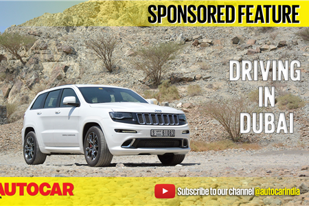 Dubai to Hatta in a Jeep Grand Cherokee SRT video