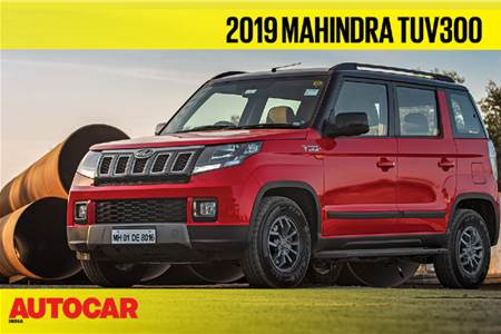 2019 Mahindra TUV300 facelift first look video