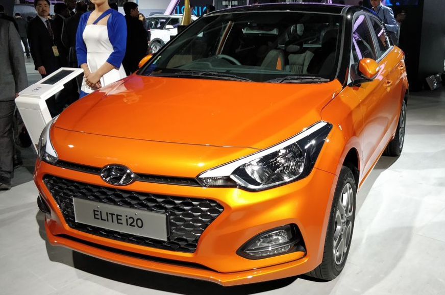 auto expo 2018 hyundai i20 facelift launch price in. Black Bedroom Furniture Sets. Home Design Ideas