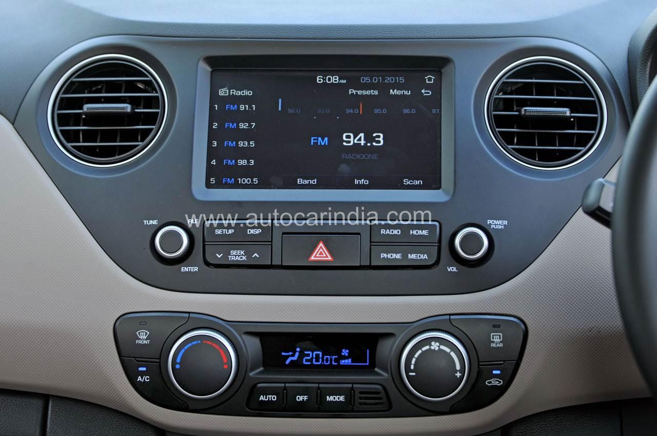 2017 Hyundai Xcent Facelift Images Interior Details