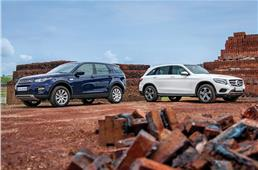 2017 Land Rover Discovery Sport vs Mercedes GLC 220d comp...