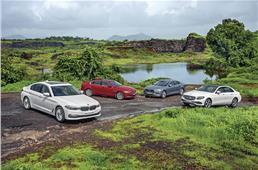 2017 BMW 520d vs Mercedes E220d vs Volvo S90 vs Jaguar XF