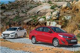 2018 Toyota Yaris AT vs Hyundai Verna AT comparison