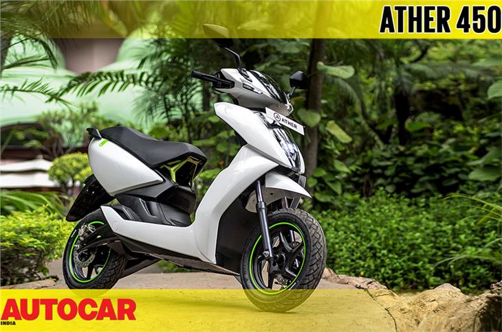 2018 Ather 450 e-scooter video review