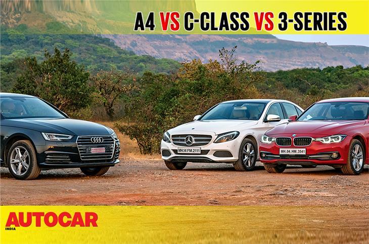 Audi A4 vs Mercedes-Benz C-class vs BMW 3-series comparison video