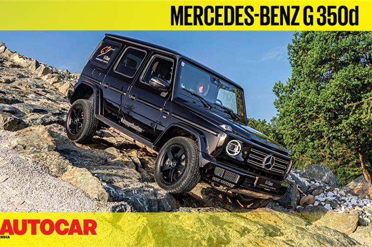 2019 Mercedes-Benz G 350d off-road video review