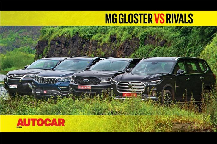 MG Gloster vs Endeavour vs Fortuner vs Alturas G4 comparison video
