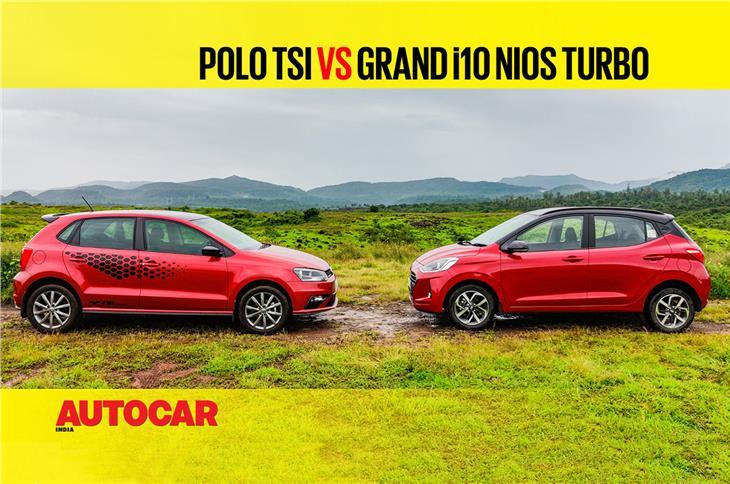 Hyundai Grand i10 Nios Turbo vs VW Polo 1.0 TSI comparison video