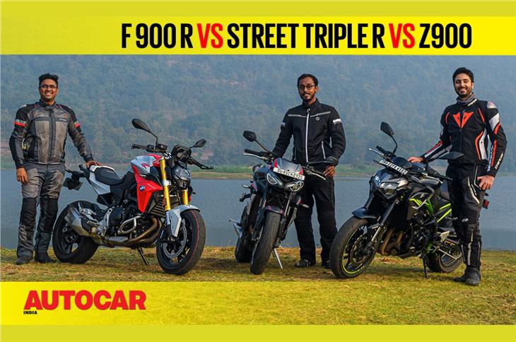 BMW F 900 R vs Z900 vs Street Triple R comparison video