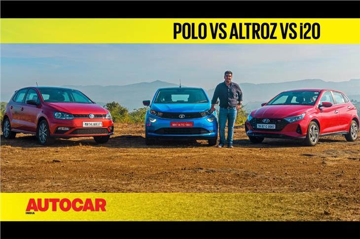 Tata Altroz iTurbo vs Hyundai i20 Turbo vs Volkswagen Polo TSI comparison video