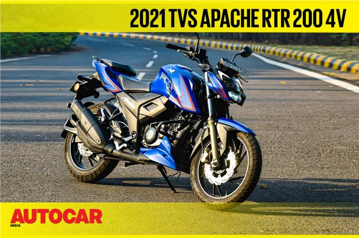 2021 TVS Apache RTR 200 4V video review