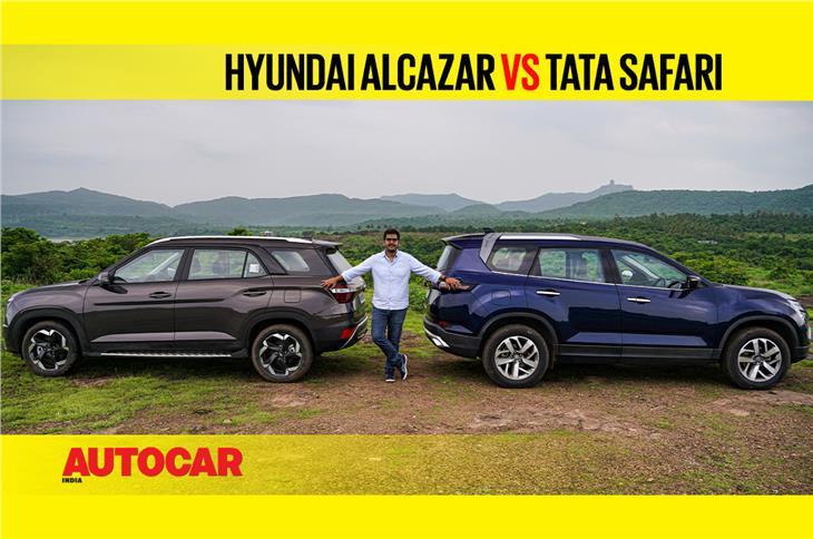 Hyundai Alcazar vs Tata Safari comparison video