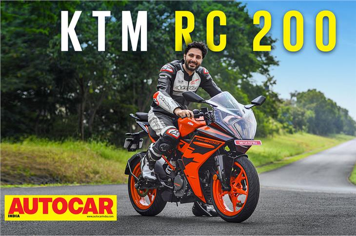 2021 KTM RC 200 video review