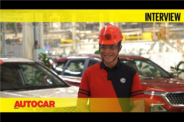 MG India plant tour with MD Rajeev Chaba