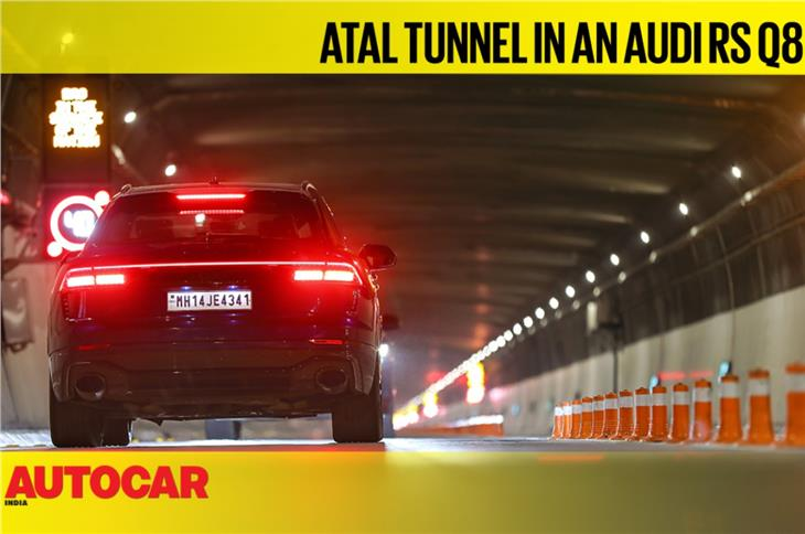 Atal Tunnel in an Audi RS Q8