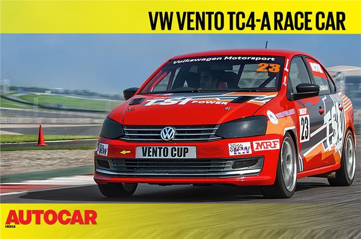 Volkswagen Vento TC4-A race car video