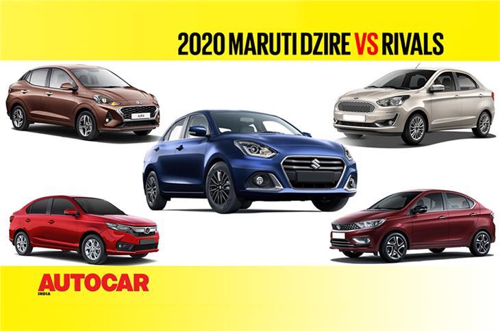 Maruti Suzuki Dzire facelift vs Rivals - Price and Spec Comparison video