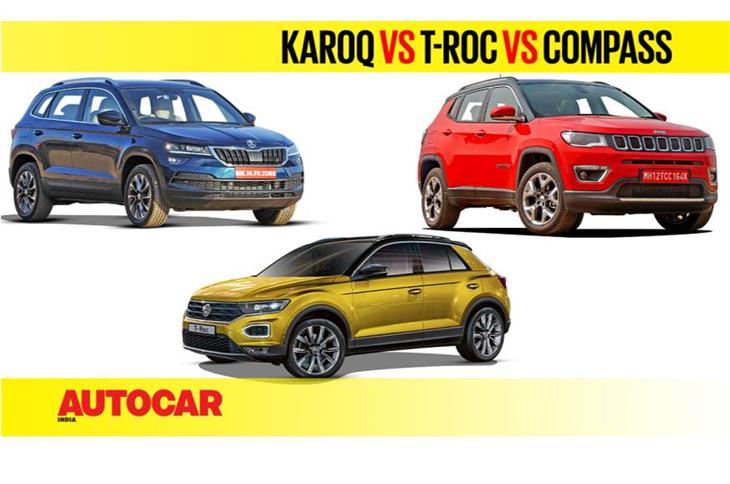 Karoq vs T-Roc vs Compass | Price and spec comparison video