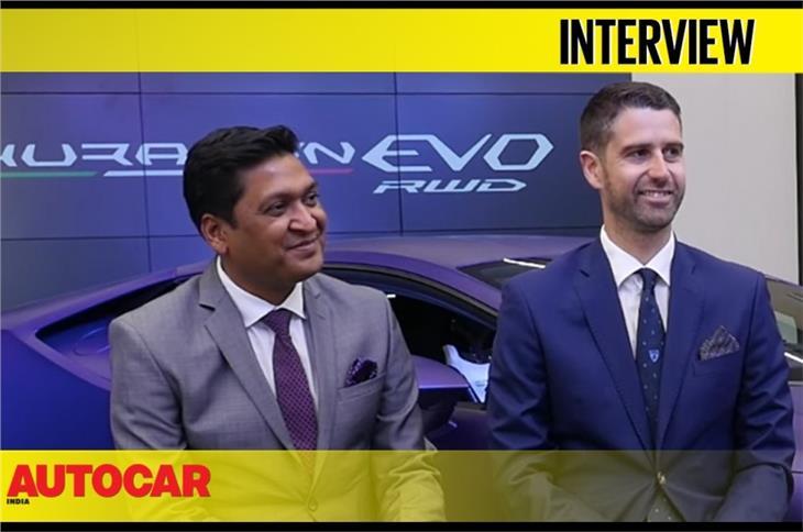 Sharad Agarwal and Matteo Ortenzi of Lamborghini talk about the Huracan RWD