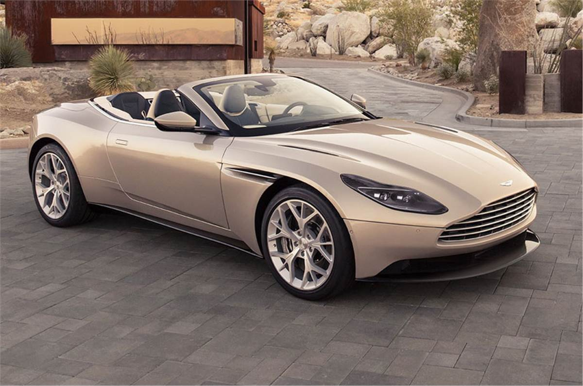 Aston Martin Db11 Volante Unveiled Autocar India