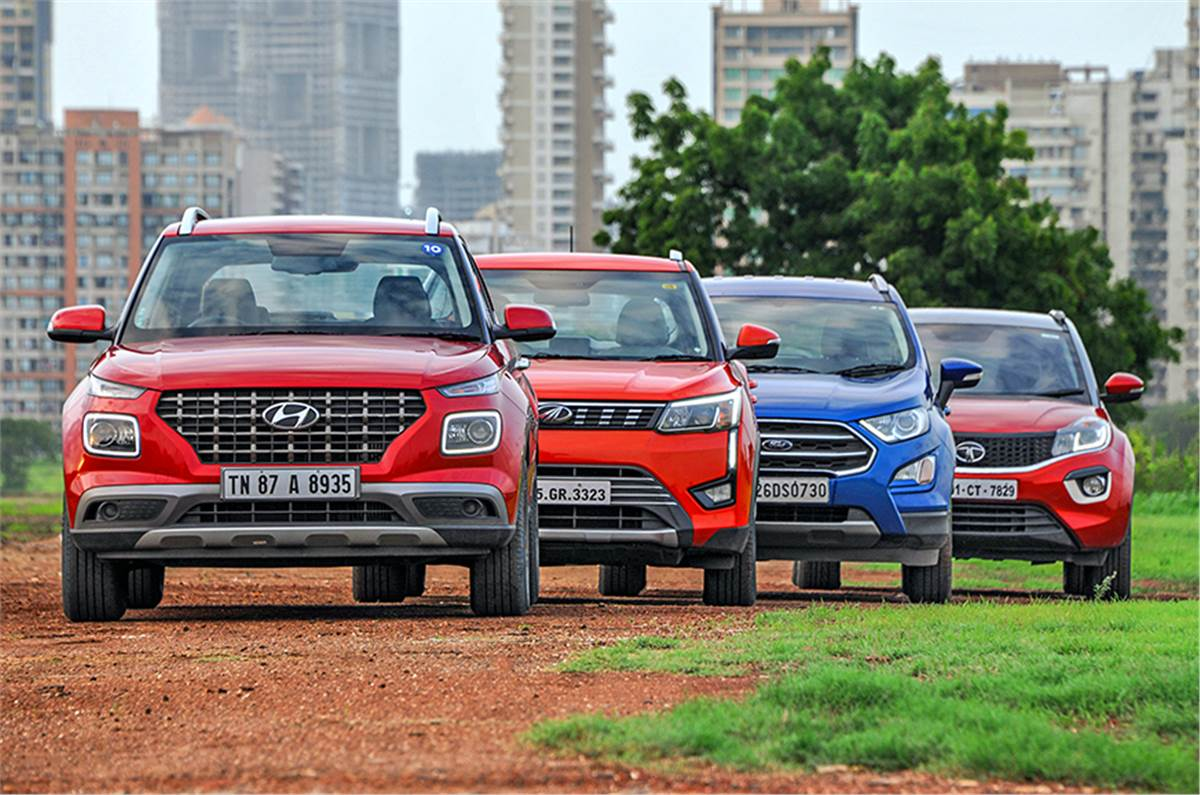 Best Compact Suvs In India Under Rs 12 Lakh Petrol Manuals Autocar India