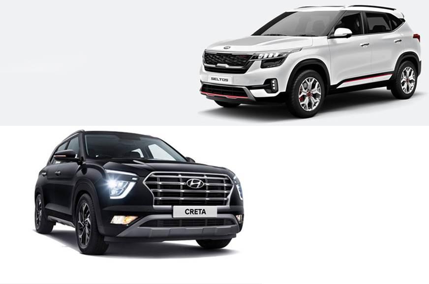 2020 Hyundai Creta Vs Kia Seltos Mileage Compared Autocar India