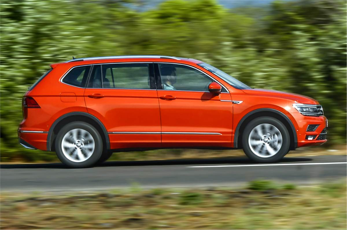 2020 Volkswagen Tiguan Allspace Review Vw Suv Gets An Additional Row Of Seats And Petrol Power Autocar India