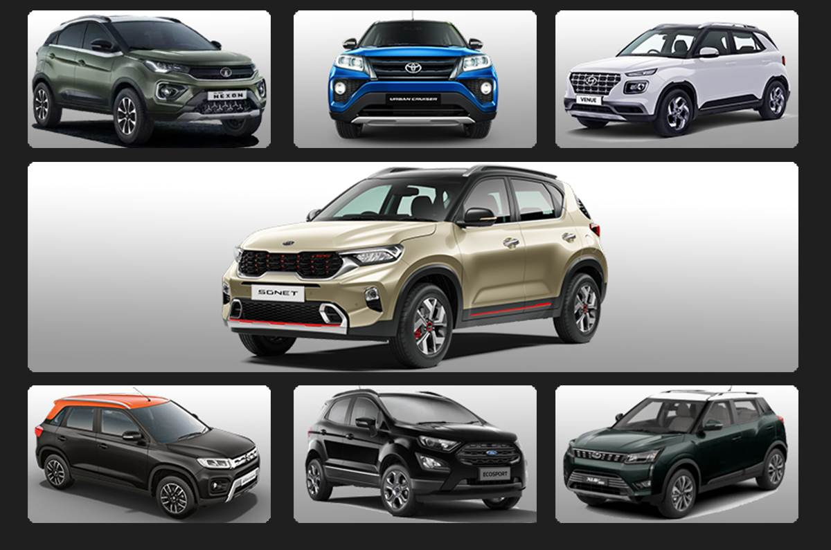 Kia Sonet Vs Toyota Urban Cruiser Vs Rivals Price Power Mileage And Dimensions Compared Autocar India