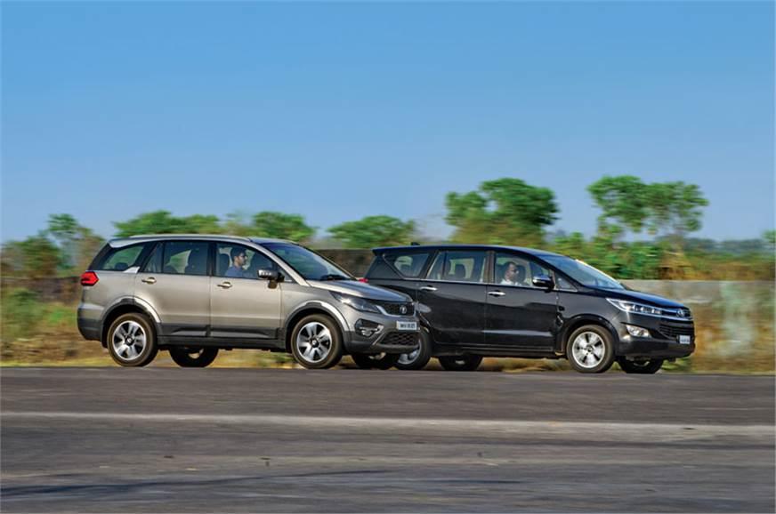 2017 Tata Hexa vs Toyota Innova Crysta automatic comparison