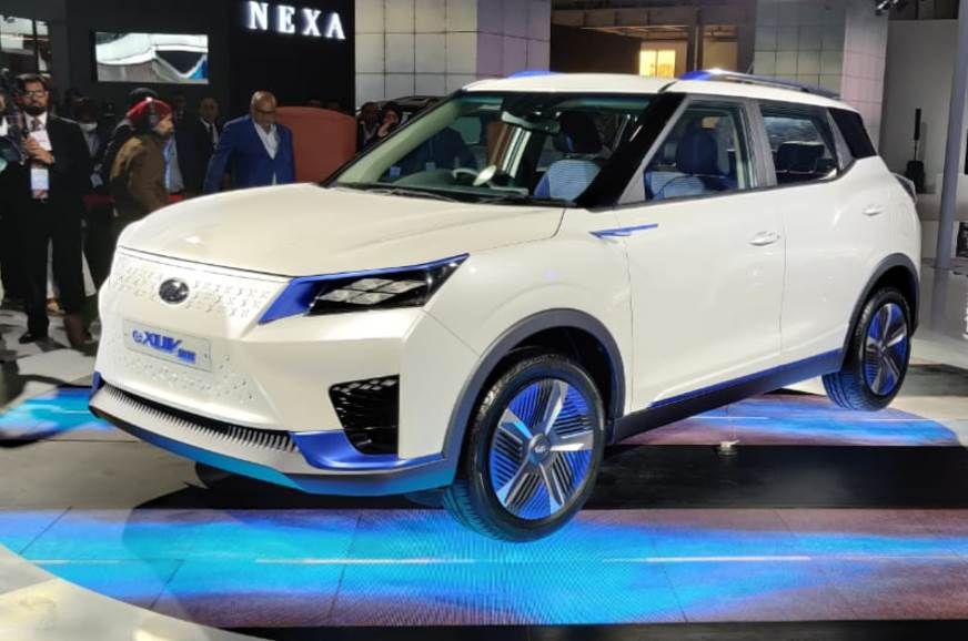 eXUV300 gives glimpse of future Mahindra EV styling