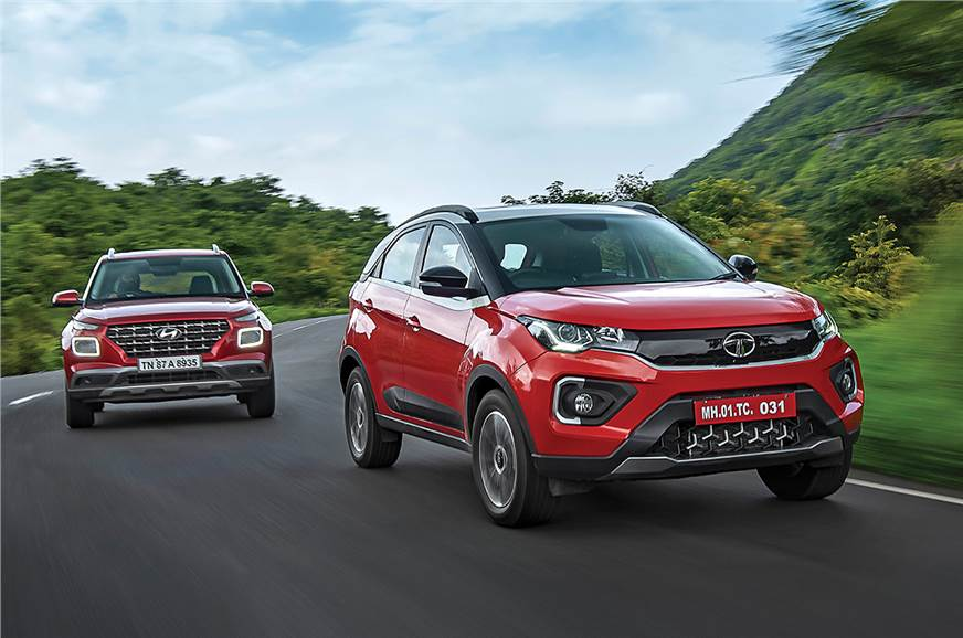 2020 Tata Nexon vs Hyundai Venue turbo-petrol comparison