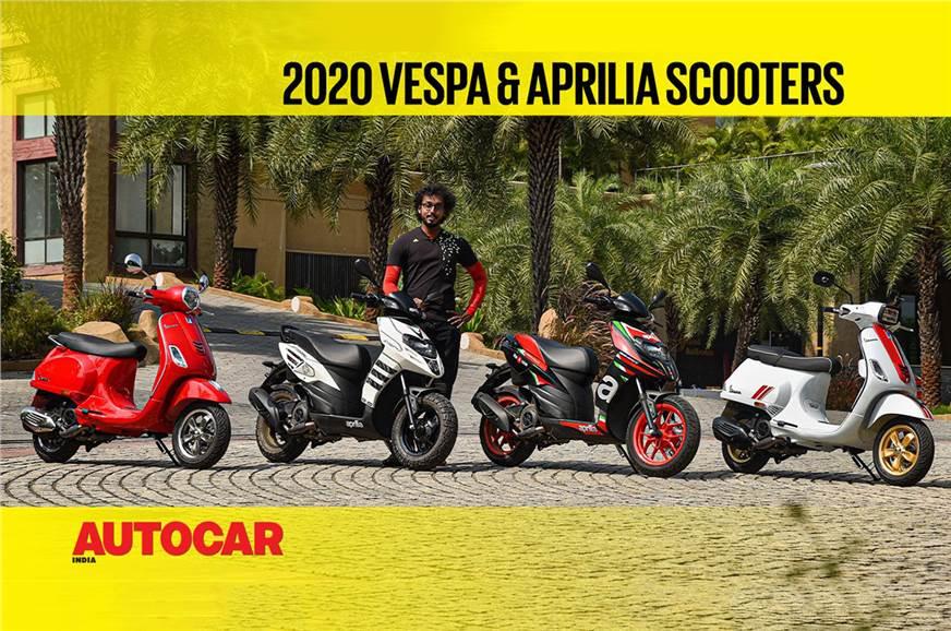 2020 Aprilia, Vespa scooters video review