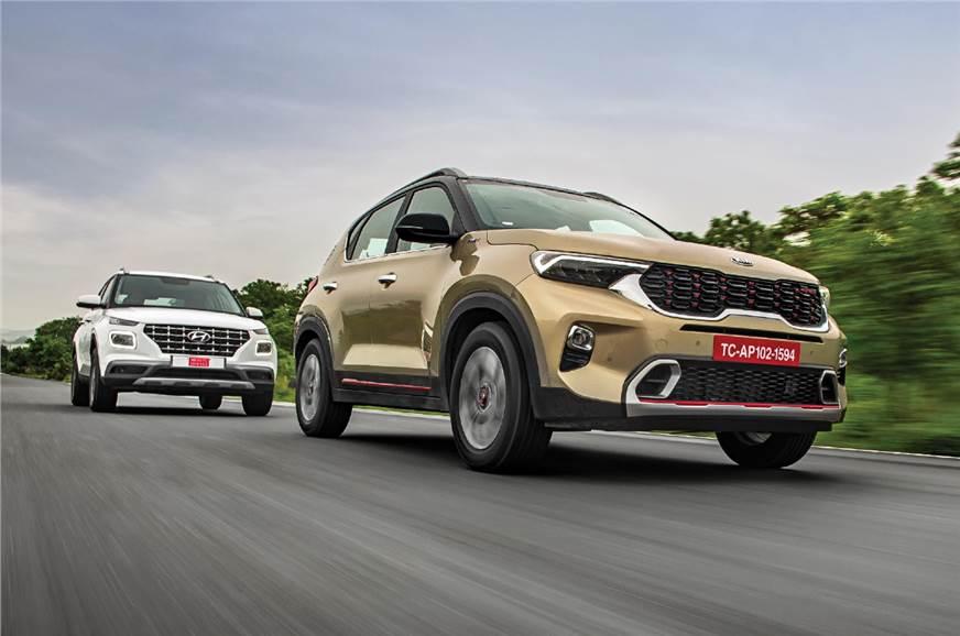 Kia Sonet vs Hyundai Venue comparison