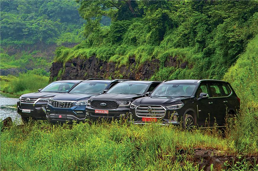 MG Gloster vs Toyota Fortuner vs Ford Endeavour vs Mahindra Alturas G4 comparison