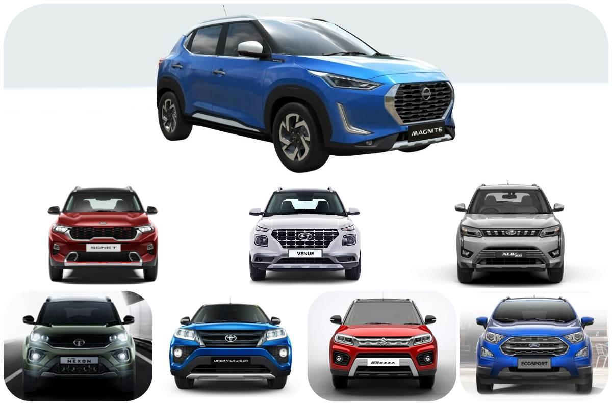 Nissan Magnite vs rivals: Features comparison